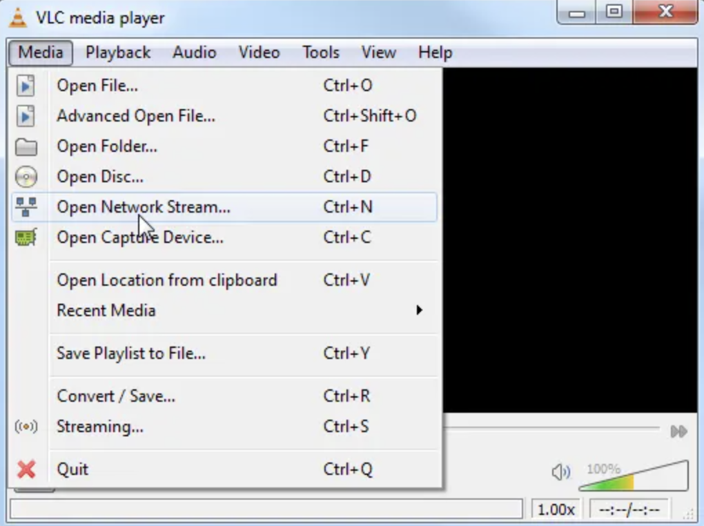 Open VLC Player with CyberFlix TV APK
