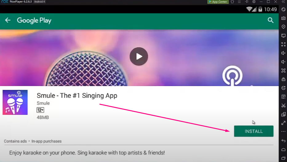 Install Smule App on PC