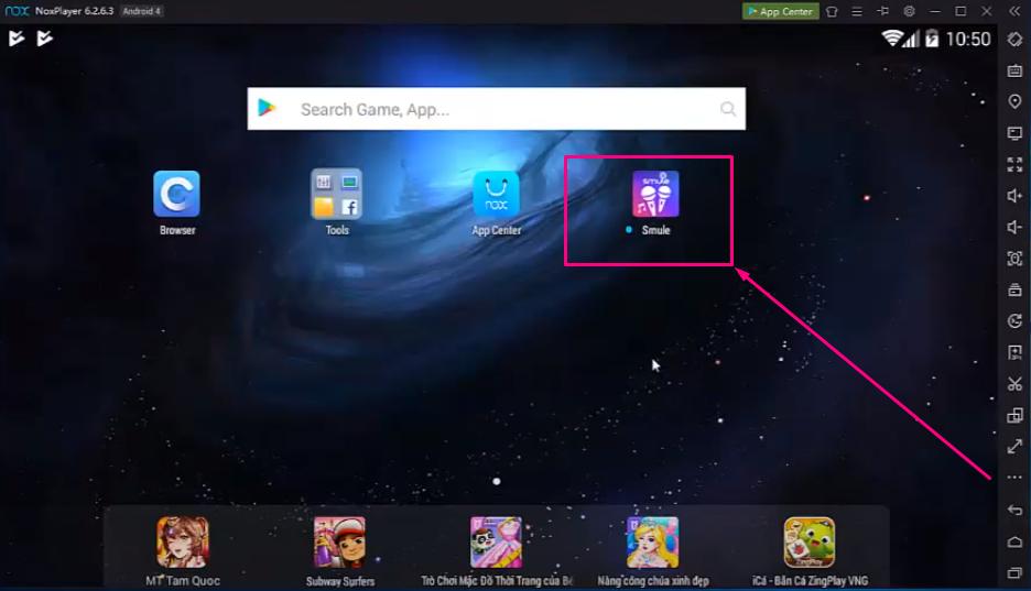 Smule VIP App on Nox Emulator