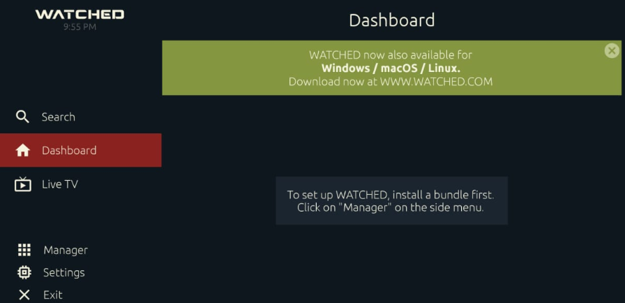 Installed 'WATCHED APK' on PC