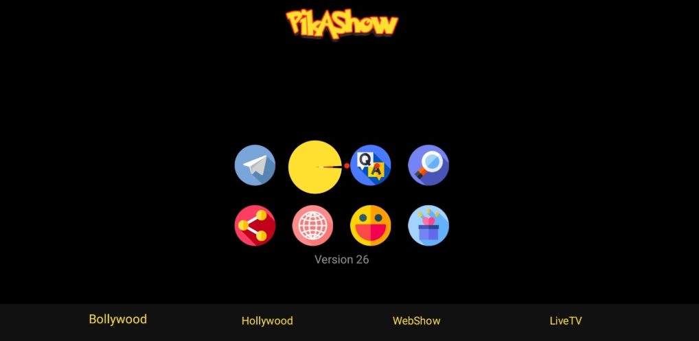 PikaShow App UI on PC