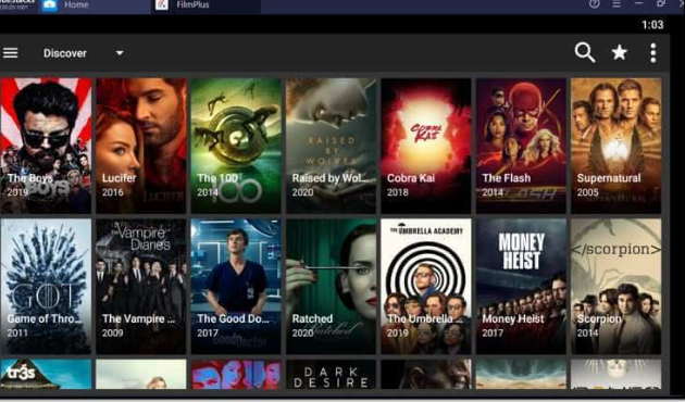 FilmPlus Movies & TV Shows Content on PC