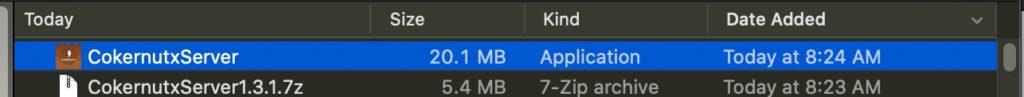 cokernutxserver file unzip